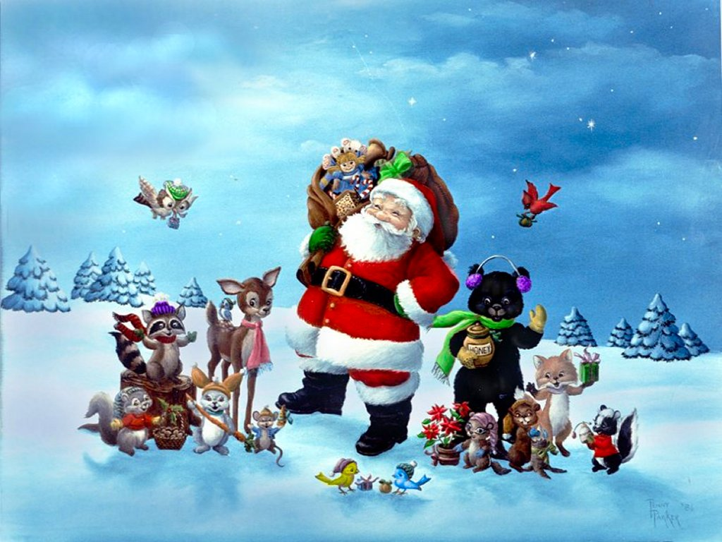 Christmas Santa Wallpapers [HD] | Wallpapers High Definition Wallpapers Desktop Background ...